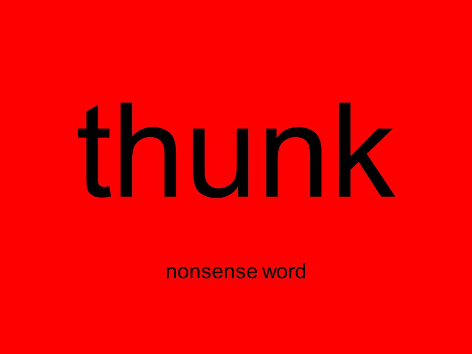 thunk nonsense word