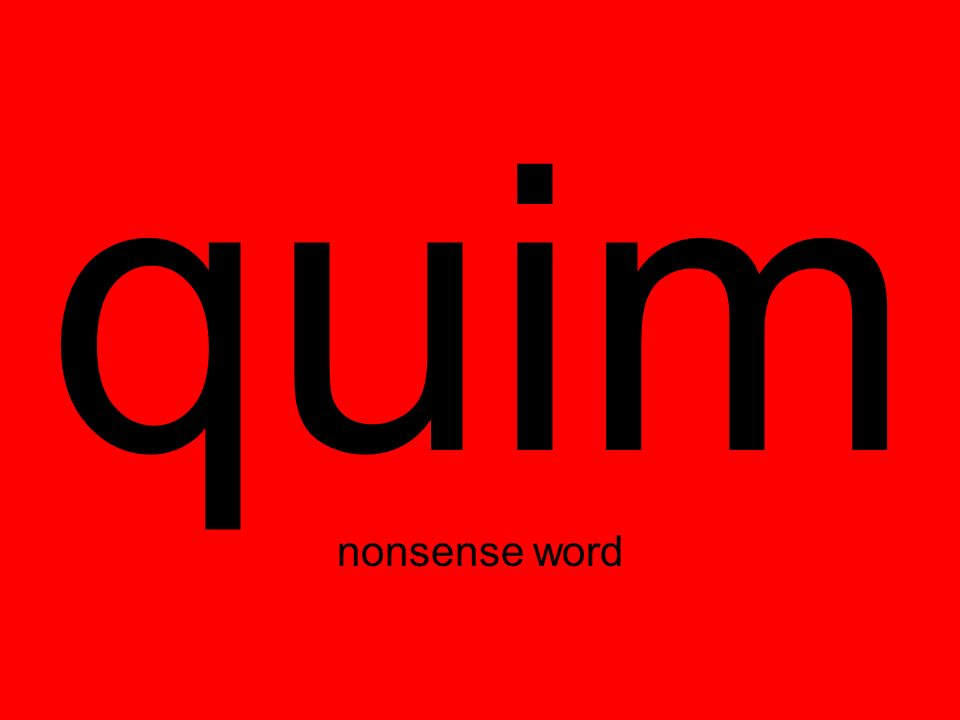 quim nonsense word