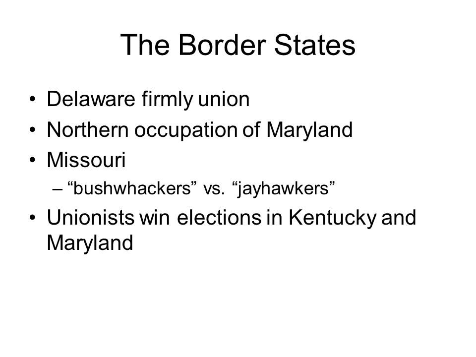 The Border States Delaware firmly union