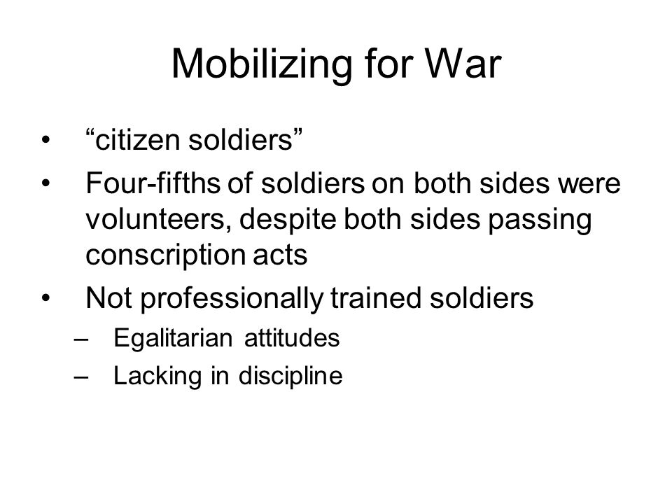 Mobilizing for War citizen soldiers