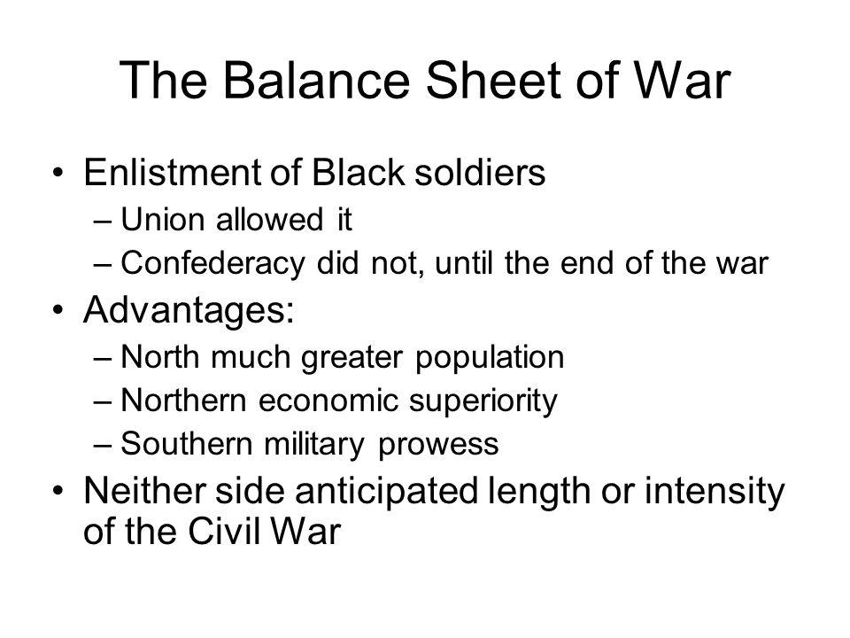 The Balance Sheet of War