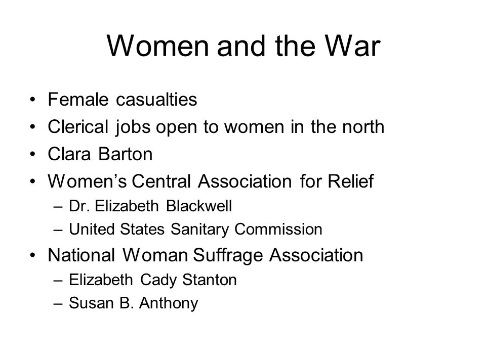 Women and the War Female casualties