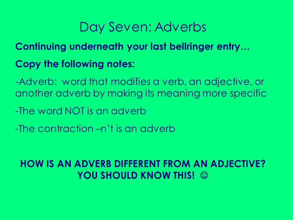 HOW IS AN ADVERB DIFFERENT FROM AN ADJECTIVE YOU SHOULD KNOW THIS! 