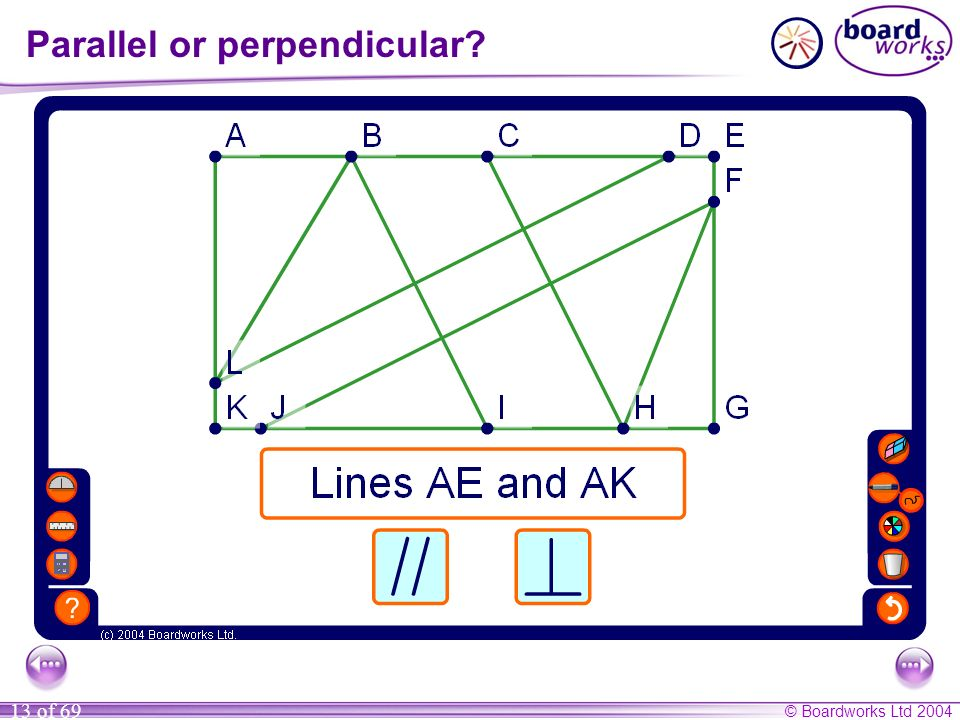 Parallel or perpendicular