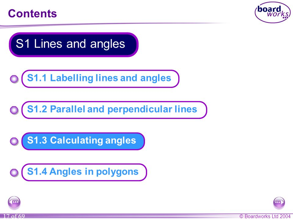 S1 Lines and angles Contents S1.1 Labelling lines and angles