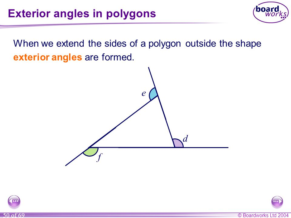 Exterior angles in polygons
