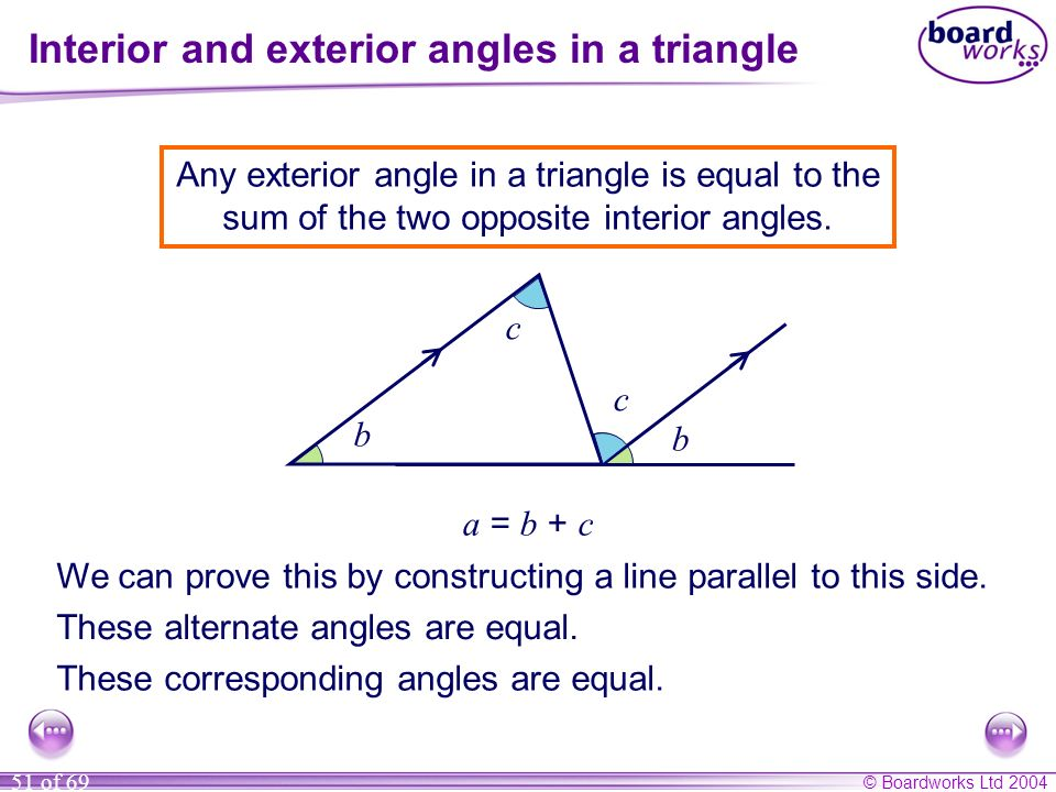 Ks3 mathematics s1 lines and angles ppt video online - Definition of interior and exterior angles ...