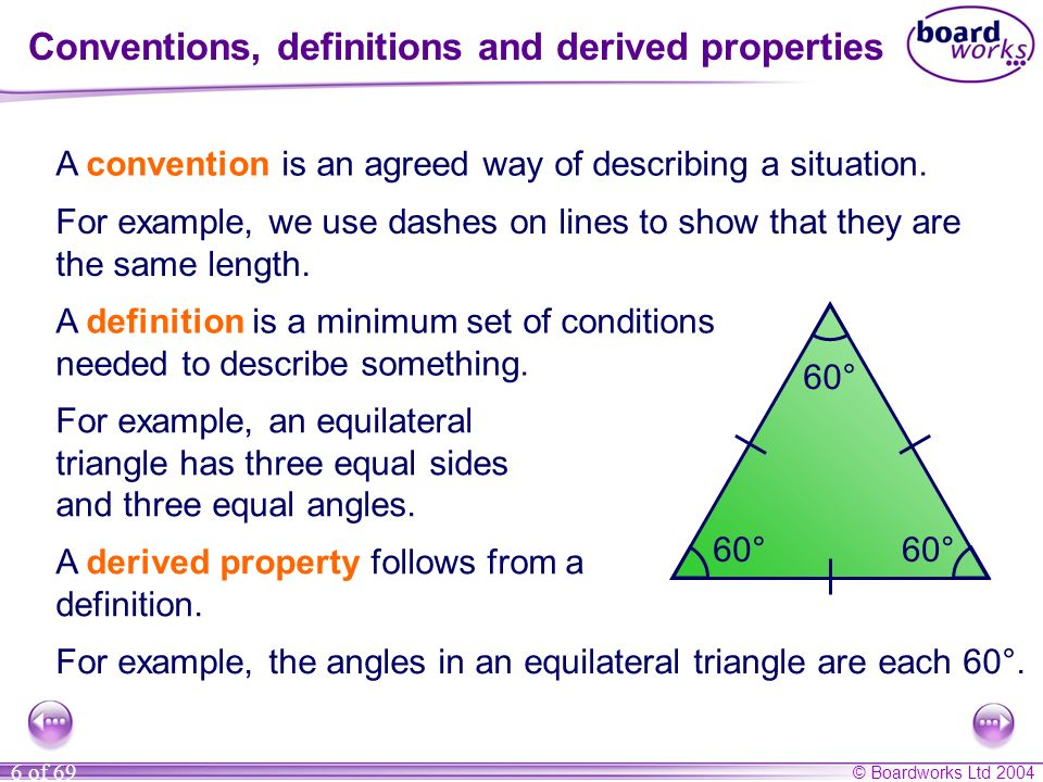 Conventions, definitions and derived properties