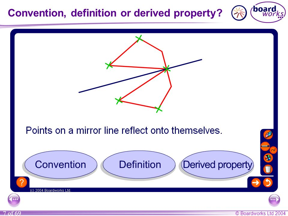 Convention, definition or derived property
