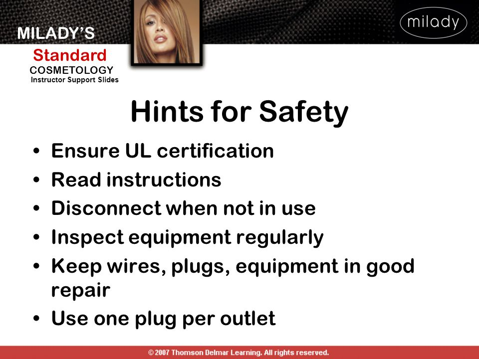 Hints for Safety Ensure UL certification Read instructions