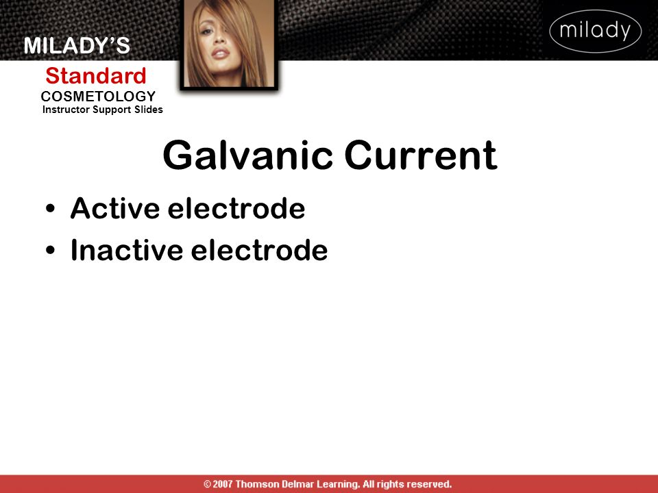 Galvanic Current Active electrode Inactive electrode