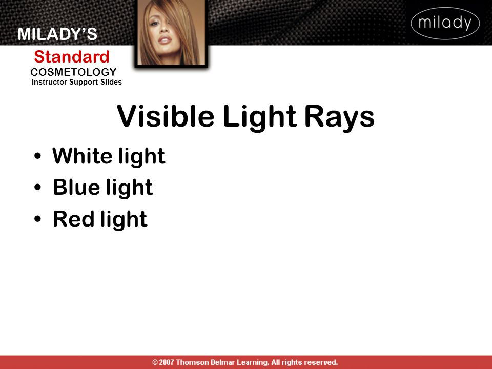 Visible Light Rays White light Blue light Red light