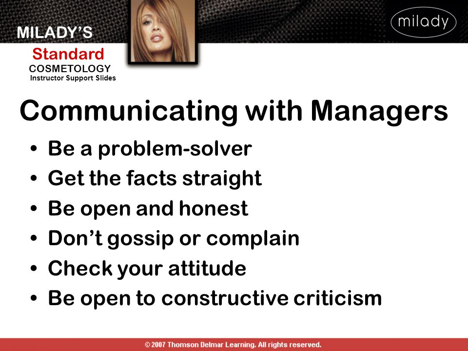 Communicating with Managers