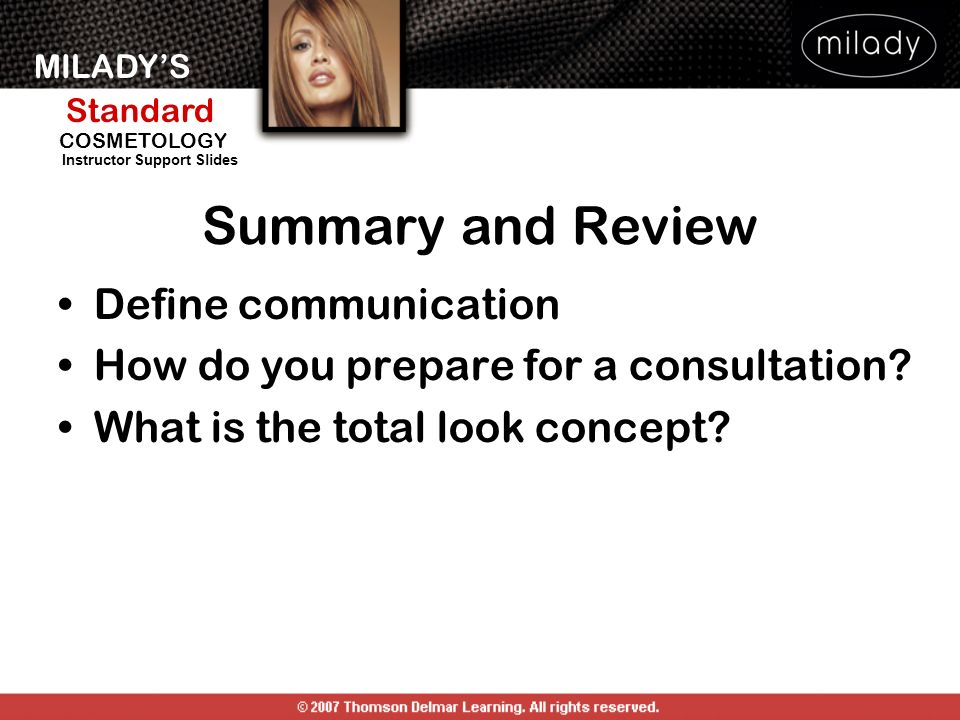 Summary and Review Define communication