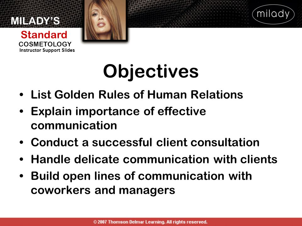 Objectives List Golden Rules of Human Relations