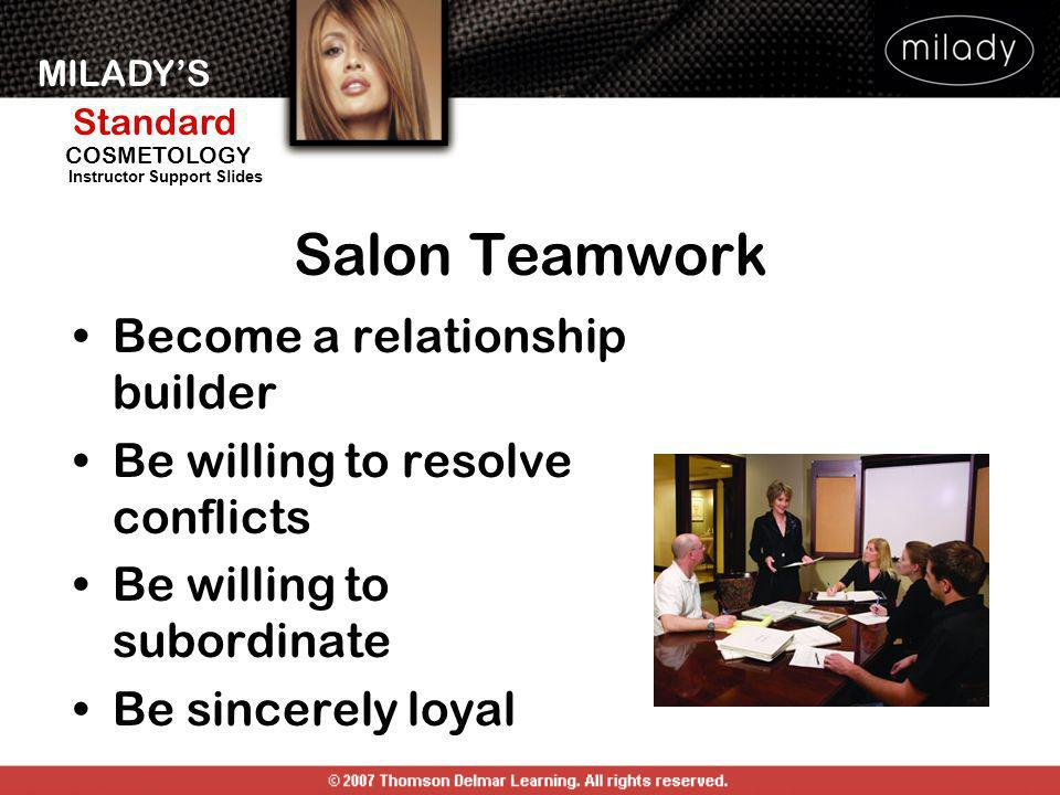 Salon Teamwork Become a relationship builder