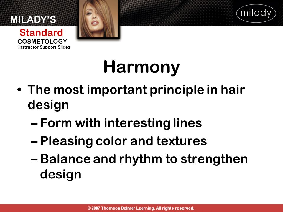 Harmony The most important principle in hair design