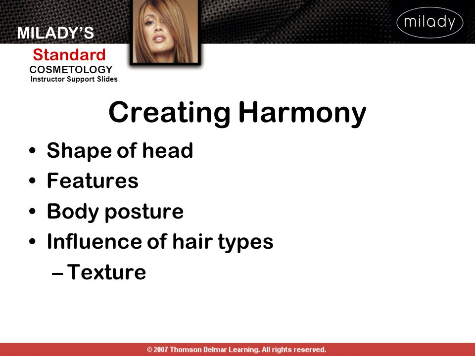 Creating Harmony Shape of head Features Body posture