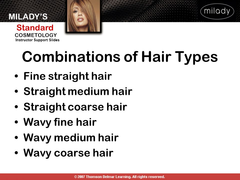 Combinations of Hair Types