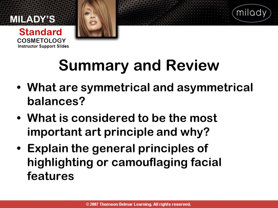 Summary and Review What are symmetrical and asymmetrical balances