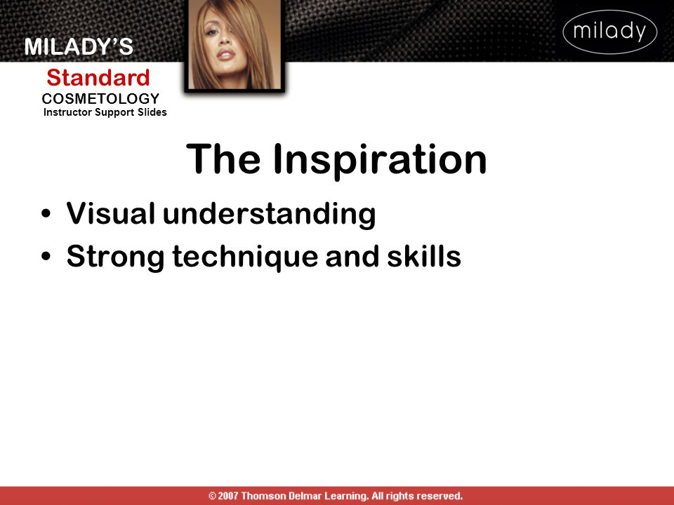 The Inspiration Visual understanding Strong technique and skills