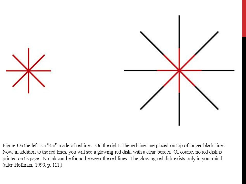 Figure On the left is a star made of redlines. On the right
