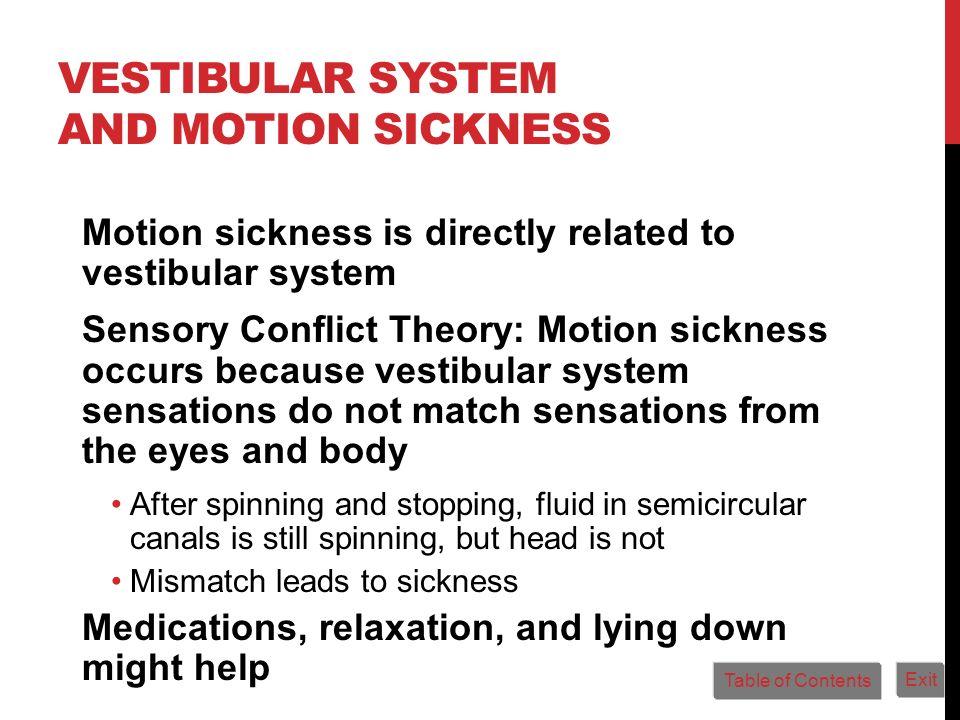 Vestibular System and Motion Sickness