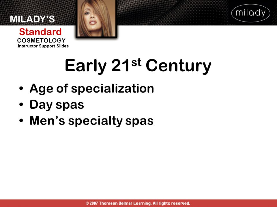 Early 21st Century Age of specialization Day spas Men's specialty spas