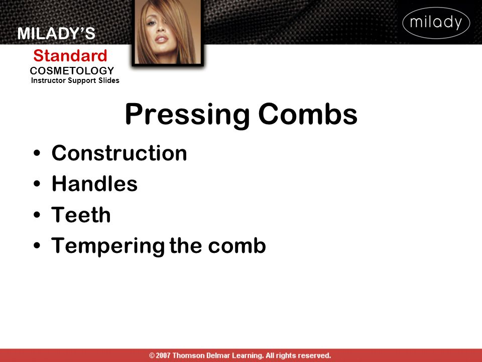 Pressing Combs Construction Handles Teeth Tempering the comb