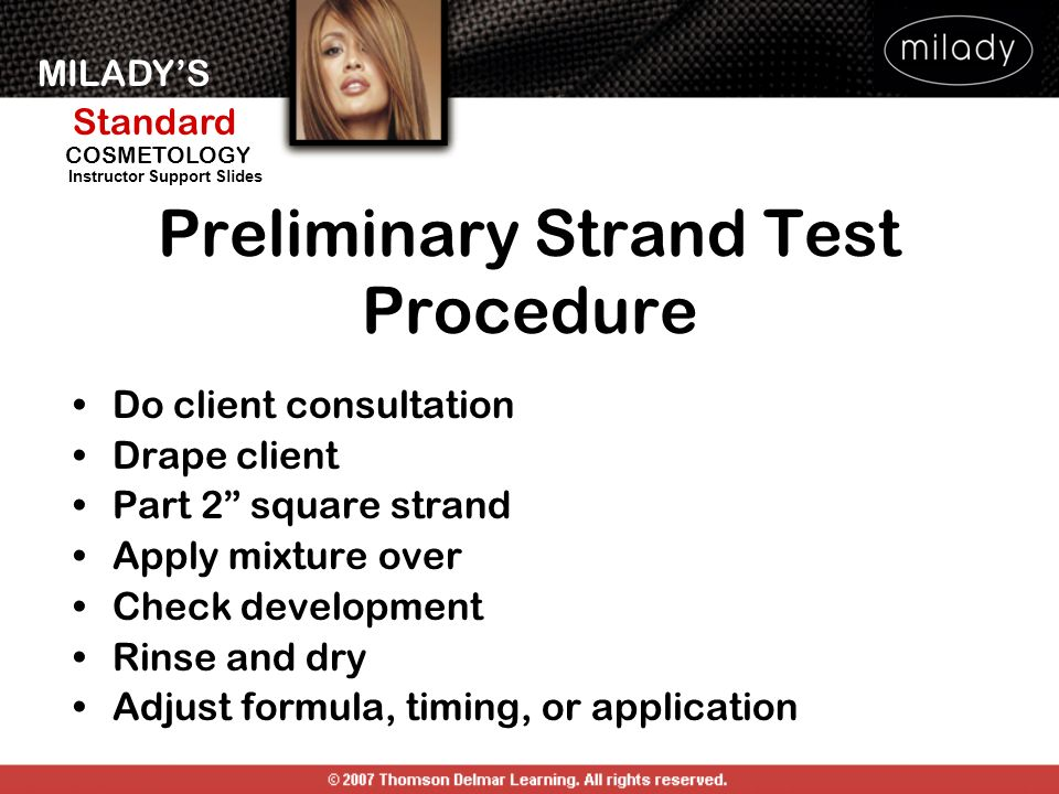 Preliminary Strand Test Procedure