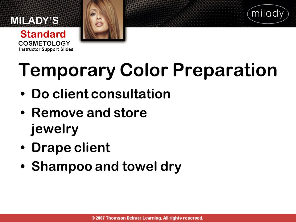 Temporary Color Preparation