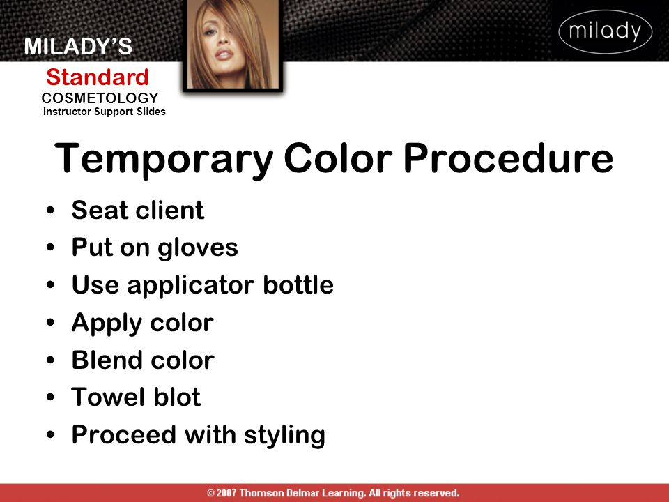 Temporary Color Procedure