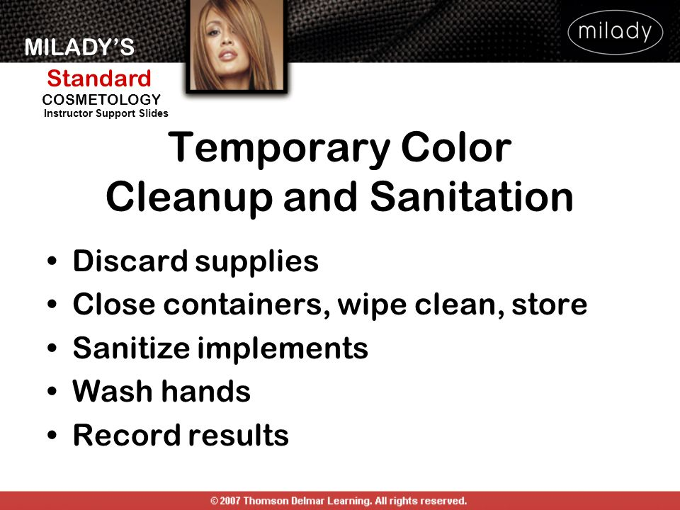 Temporary Color Cleanup and Sanitation