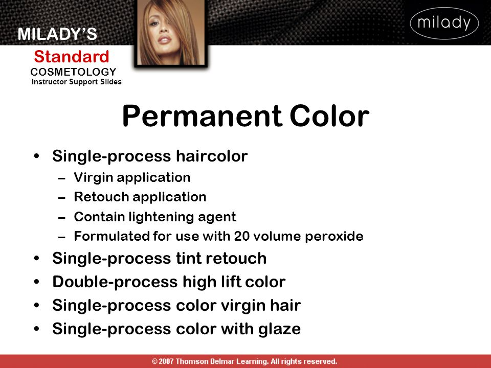 Permanent Color Single-process haircolor Single-process tint retouch