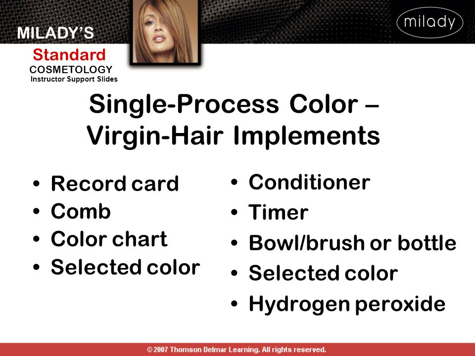 Single-Process Color – Virgin-Hair Implements