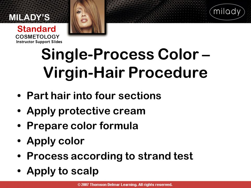 Single-Process Color – Virgin-Hair Procedure