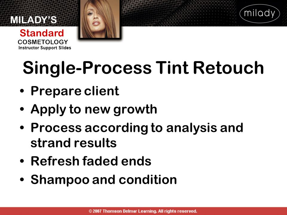 Single-Process Tint Retouch