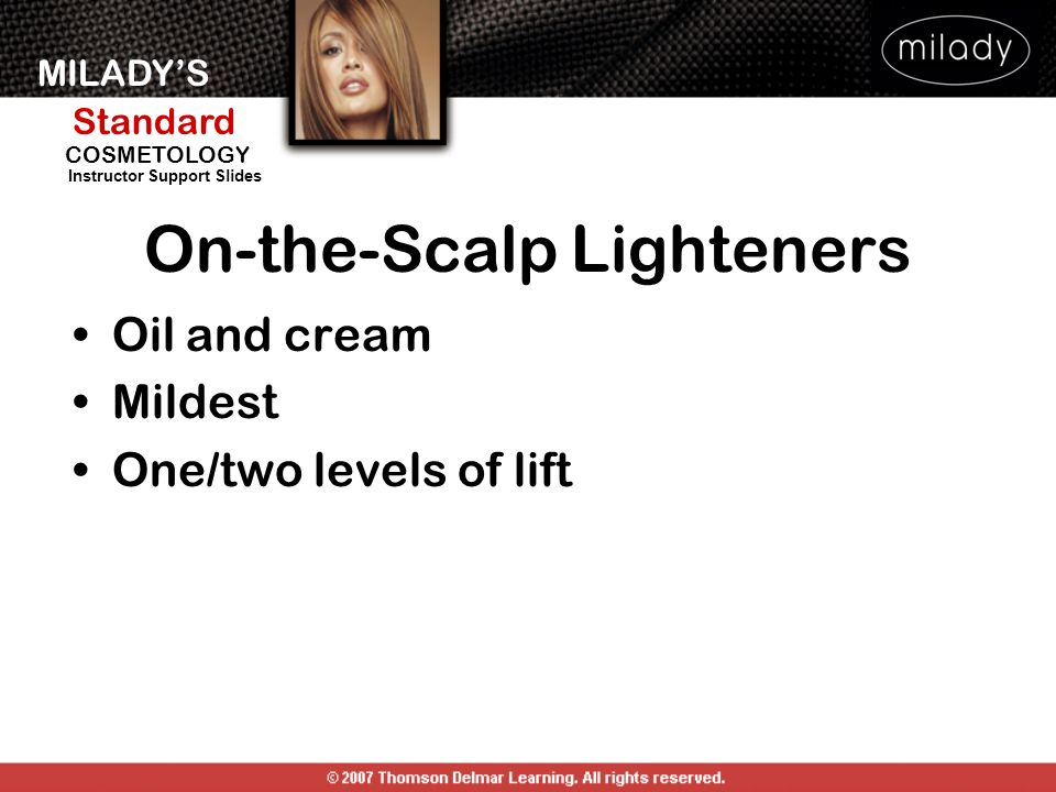 On-the-Scalp Lighteners
