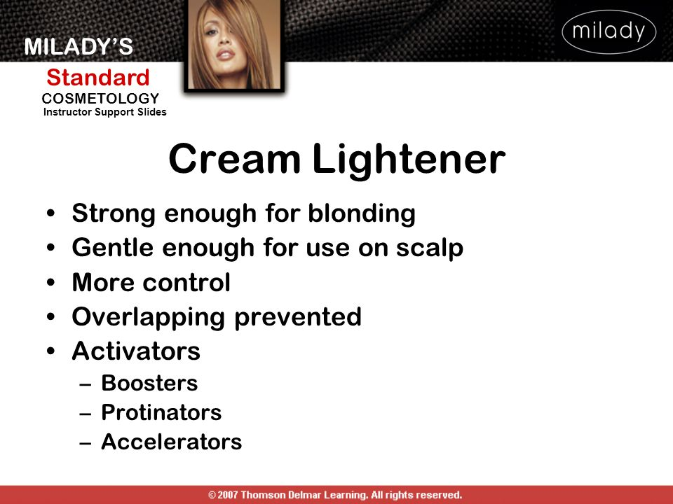 Cream Lightener Strong enough for blonding