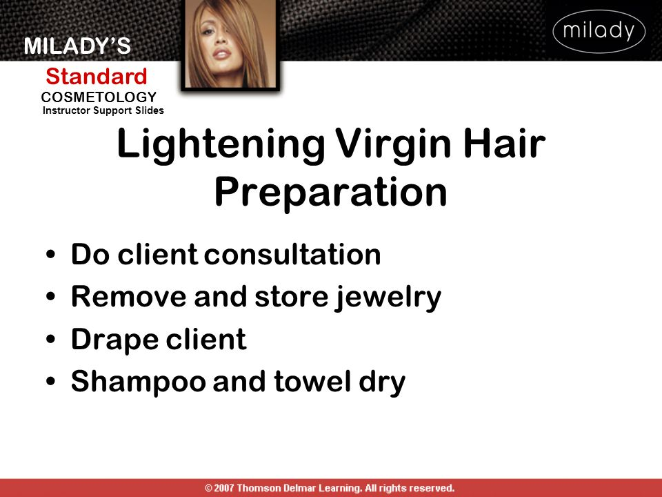 Lightening Virgin Hair Preparation