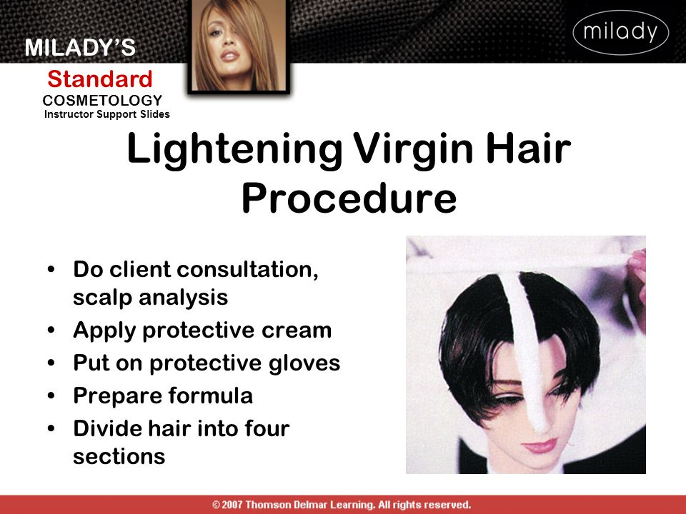 Lightening Virgin Hair Procedure