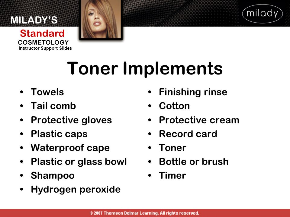 Toner Implements Towels Tail comb Protective gloves Plastic caps