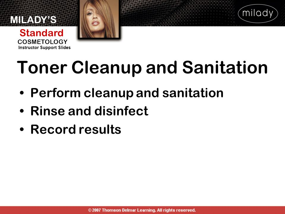 Toner Cleanup and Sanitation
