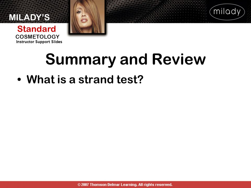 Summary and Review What is a strand test SUMMARY AND REVIEW