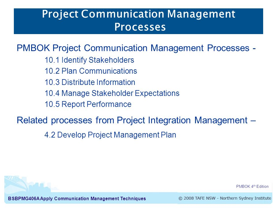 Apply Communication Management Techniques Project ...