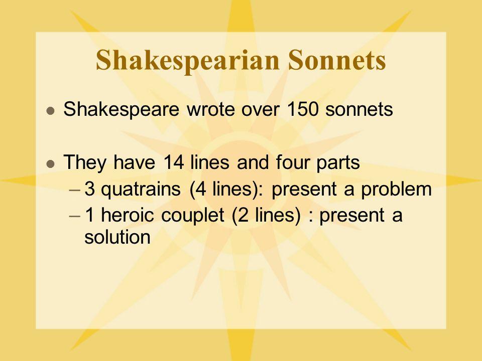 Shakespearian Sonnets