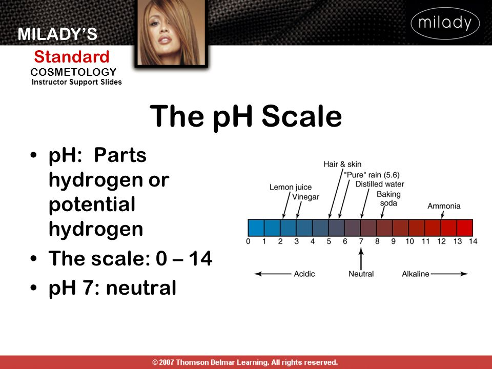 The pH Scale pH: Parts hydrogen or potential hydrogen