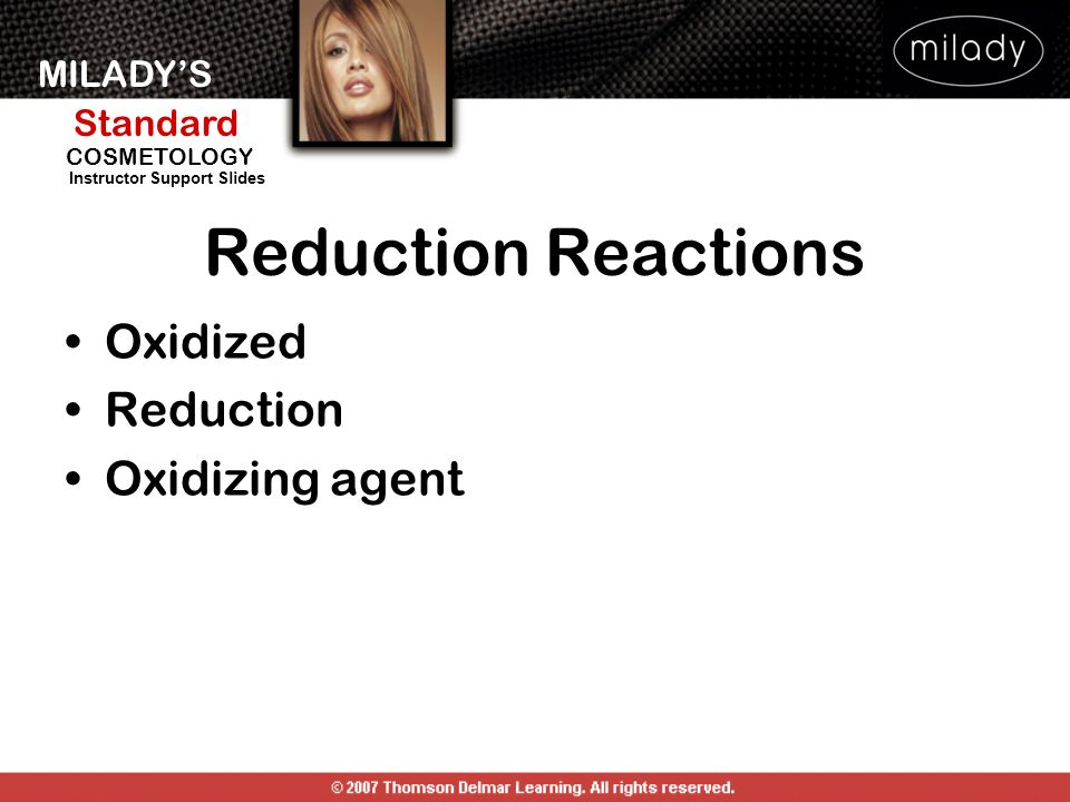 Reduction Reactions Oxidized Reduction Oxidizing agent