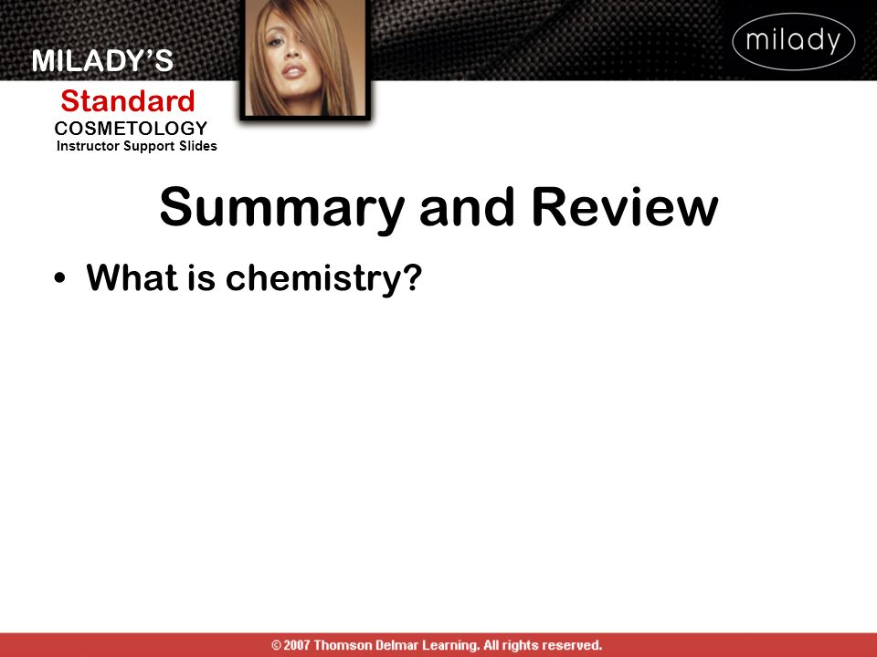 Summary and Review What is chemistry SUMMARY AND REVIEW