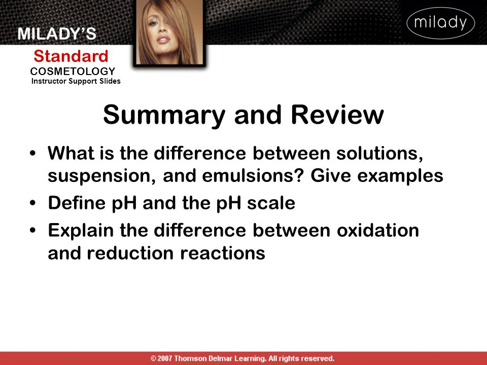 Summary and Review What is the difference between solutions, suspension, and emulsions Give examples.